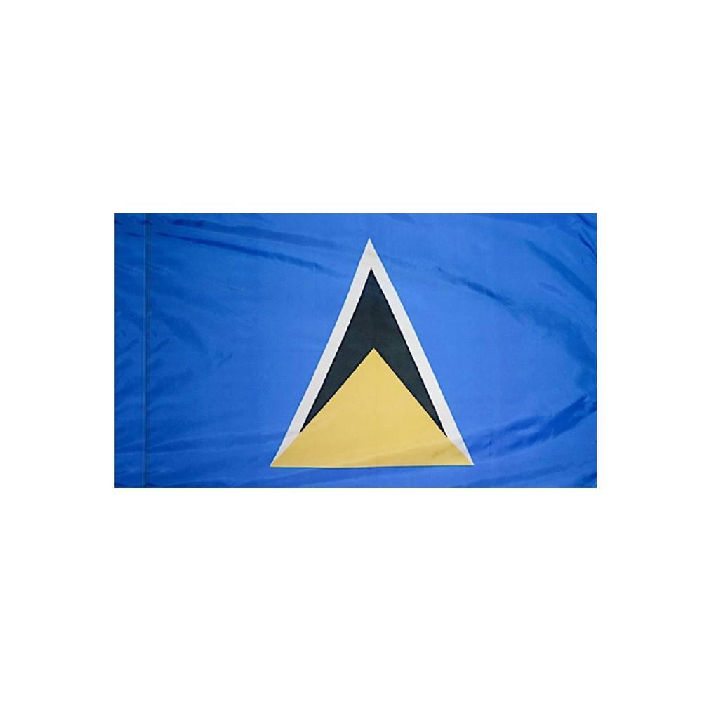 Saint Lucia Flag with Polesleeve