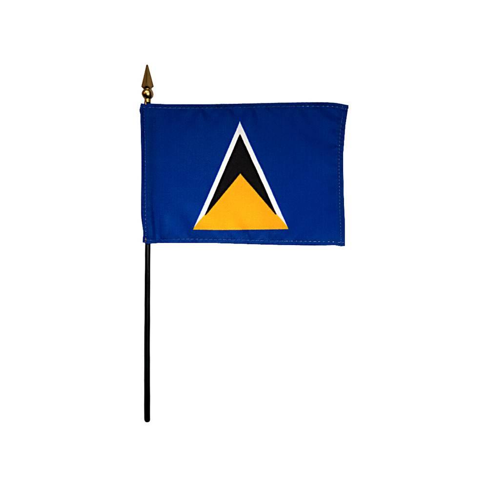 Saint Lucia Stick Flag 4x6 in