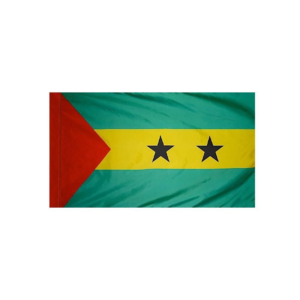 Sao Tome & Principe Flag with Polesleeve