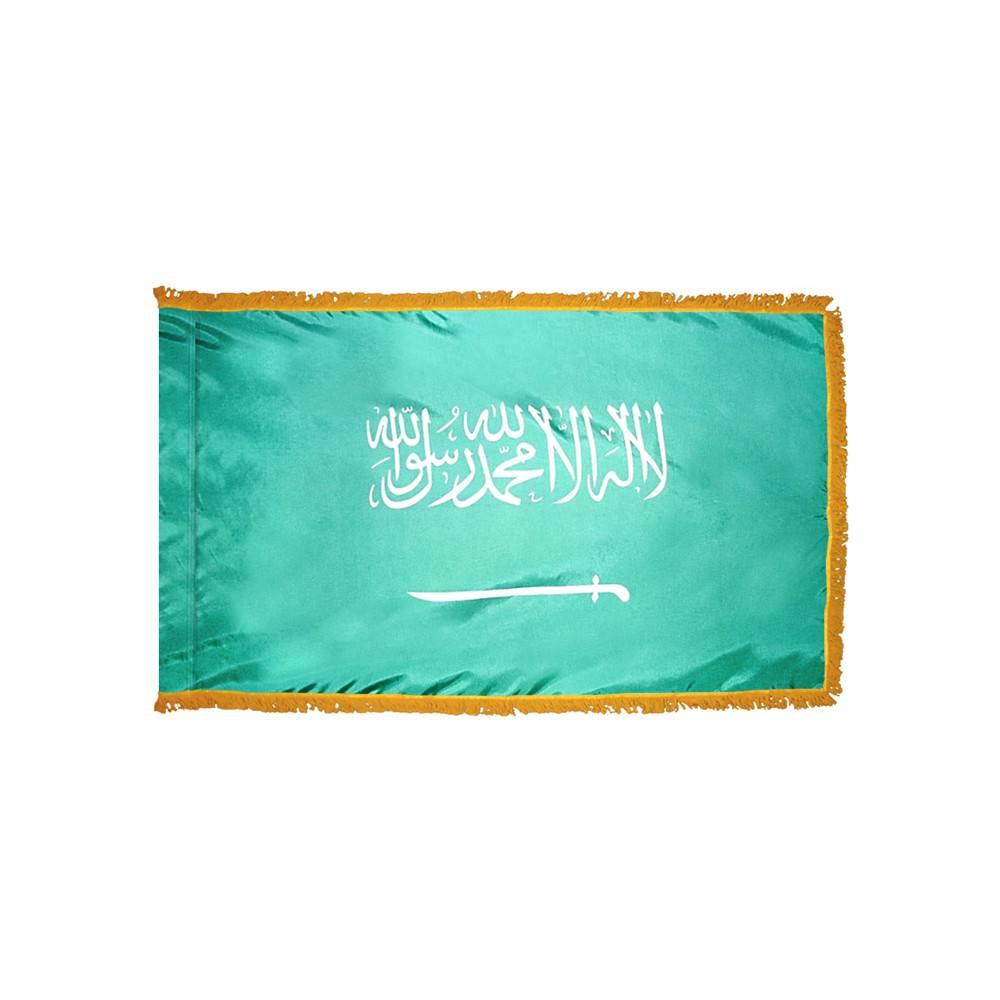 Saudi Arabia Flag with Polesleeve & Fringe