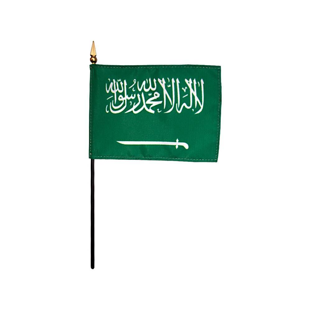 Saudi Arabia Stick Flag 4x6 in