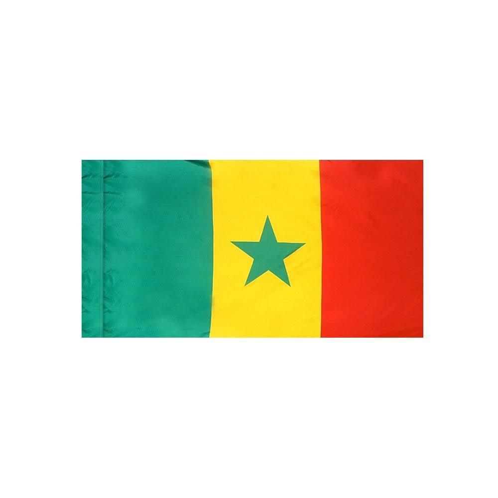 Senegal Flag with Polesleeve