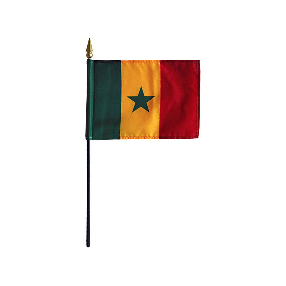 Senegal Stick Flag 4x6 in