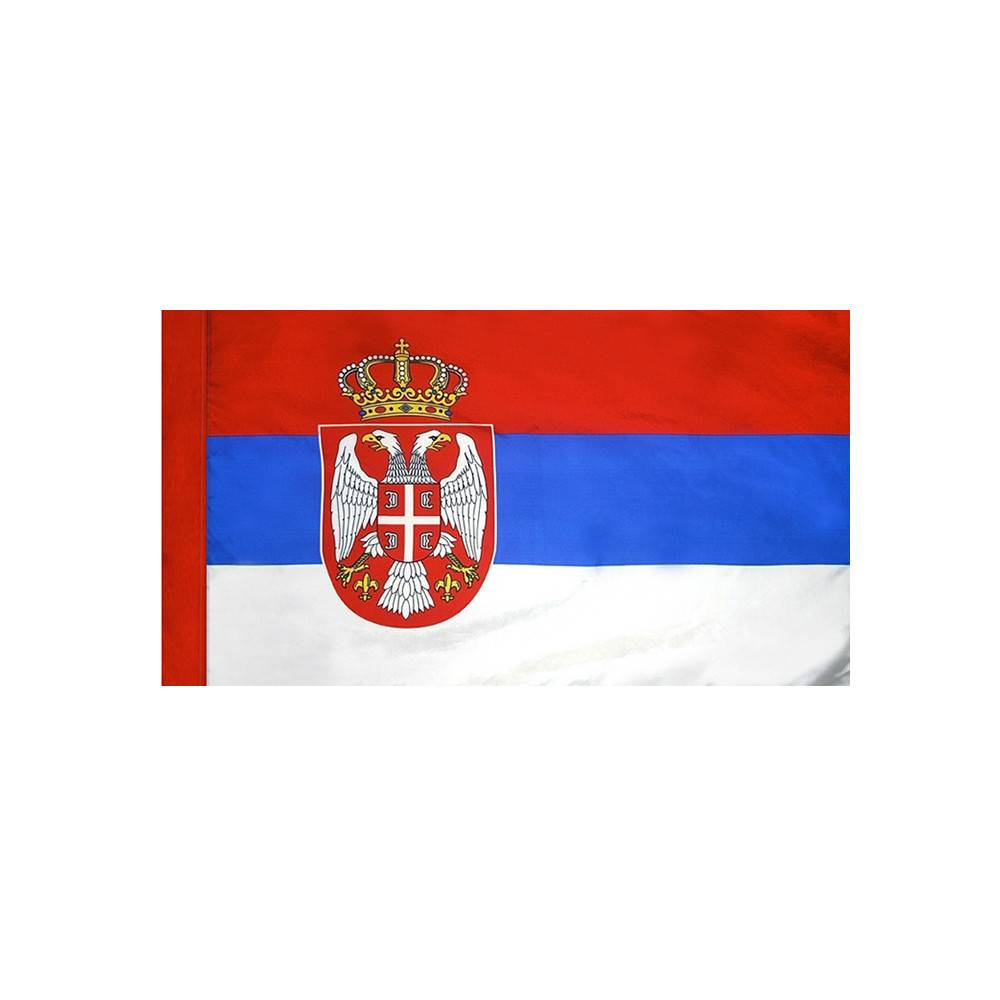 Serbia Flag with Polesleeve