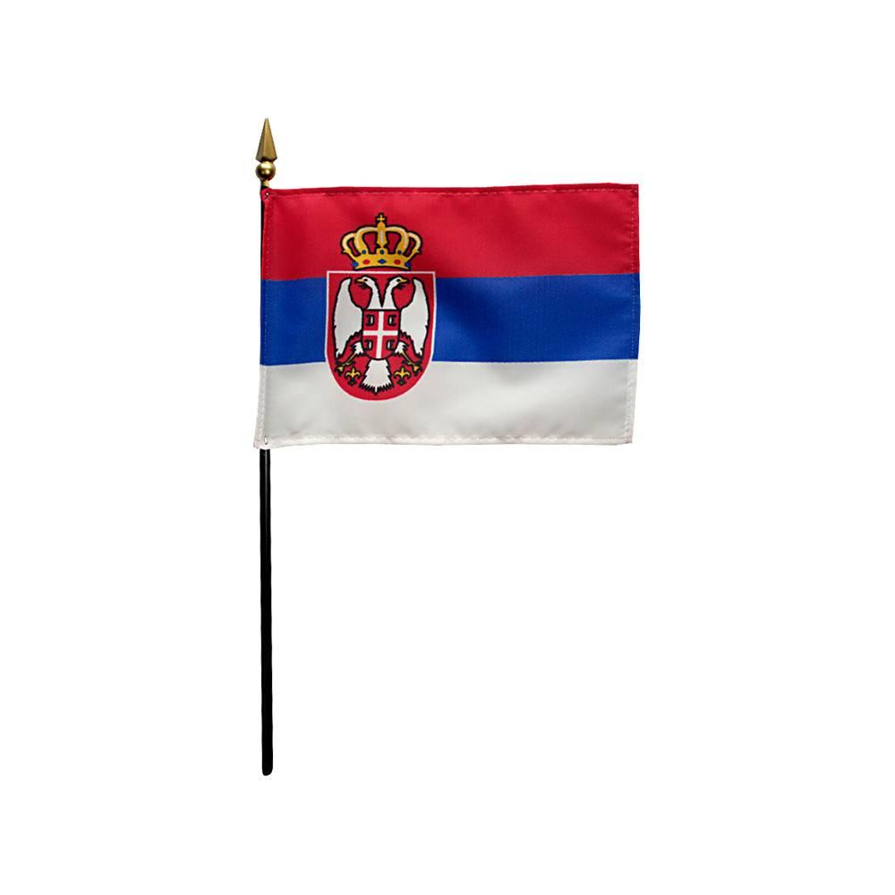 Serbia Stick Flag 4x6 in
