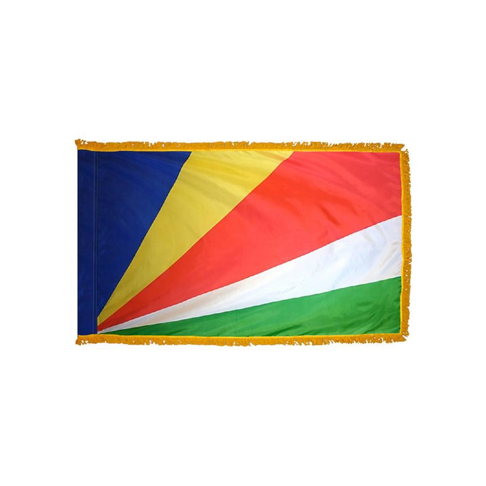Seychelles Flag with Polesleeve & Fringe