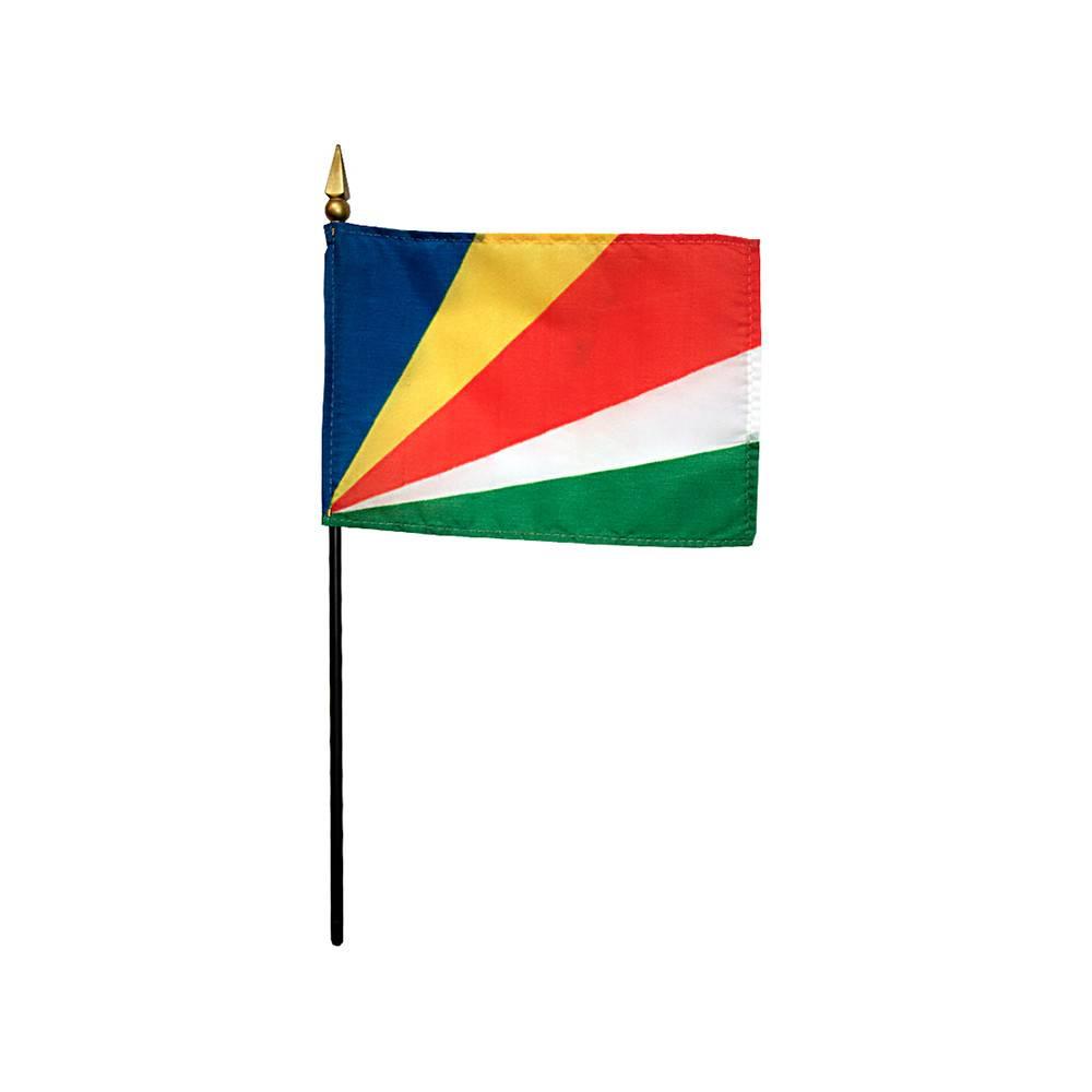 Seychelles Stick Flag 4x6 in
