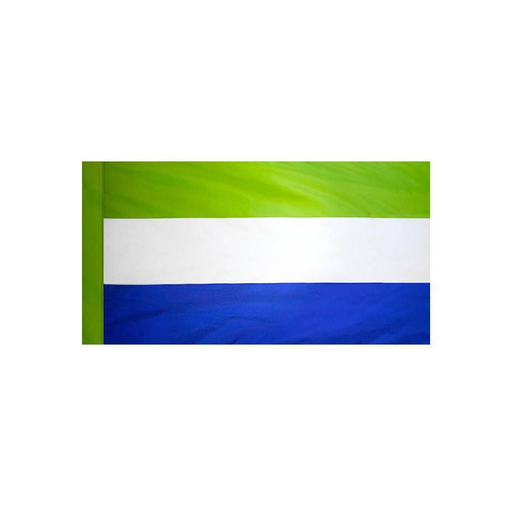 Sierra Leone Flag with Polesleeve