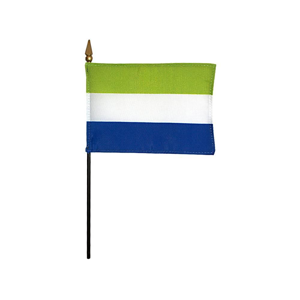 Sierra Leone Stick Flag 4x6 in