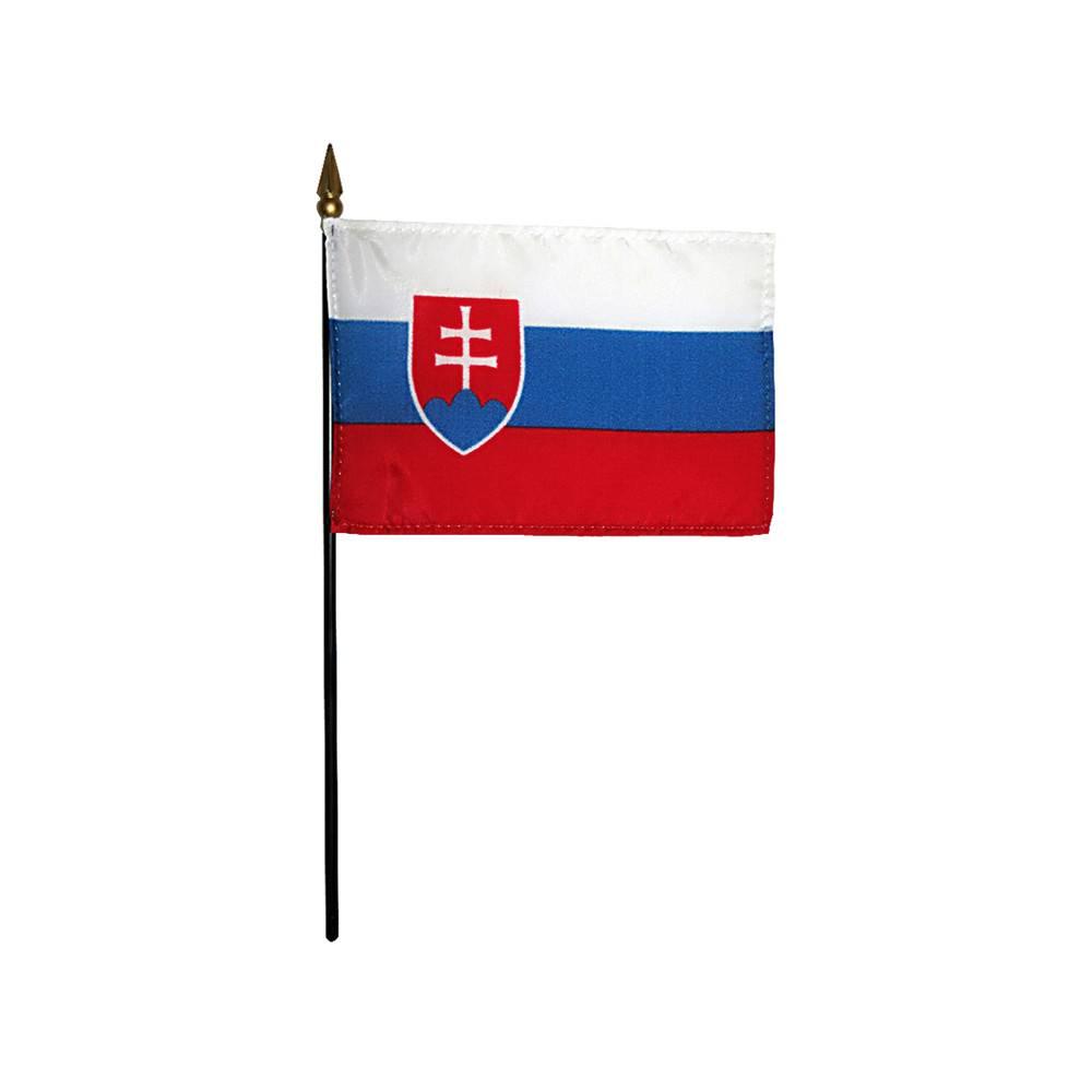 Slovakia Stick Flag 4x6 in