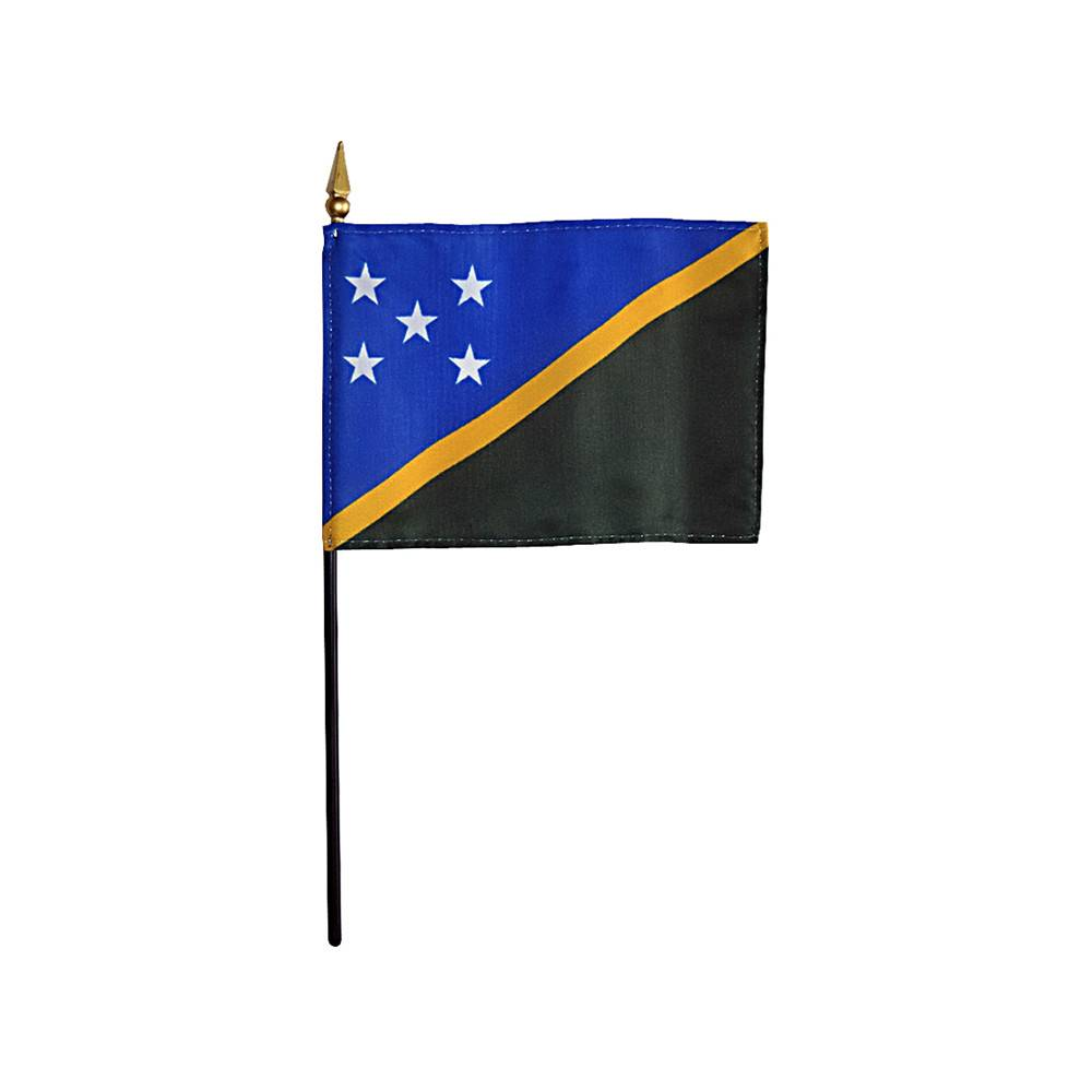 Solomon Islands Stick Flag 4x6 in