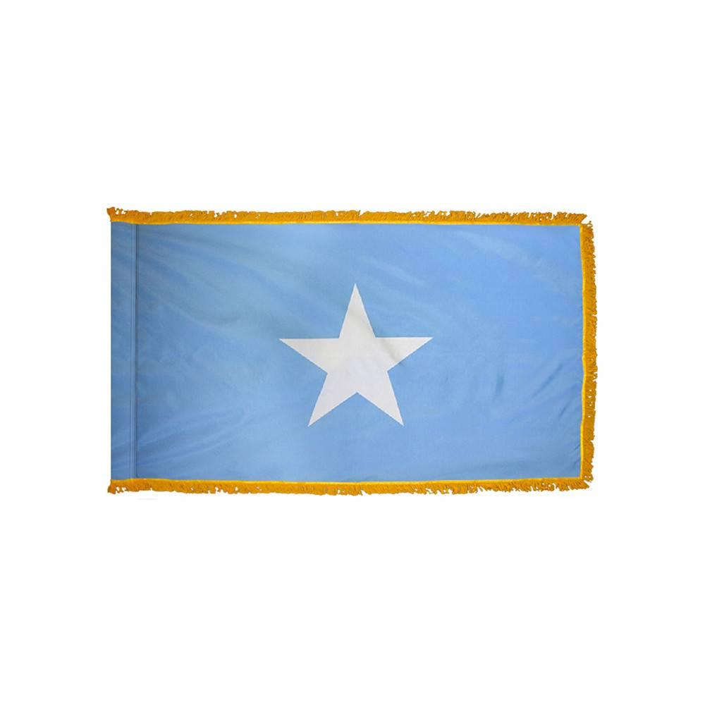 Somalia Flag with Polesleeve & Fringe
