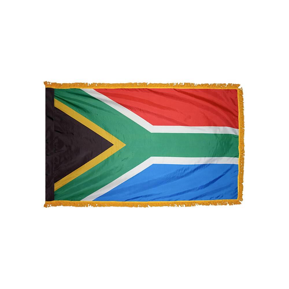 South Africa Flag with Polesleeve & Fringe