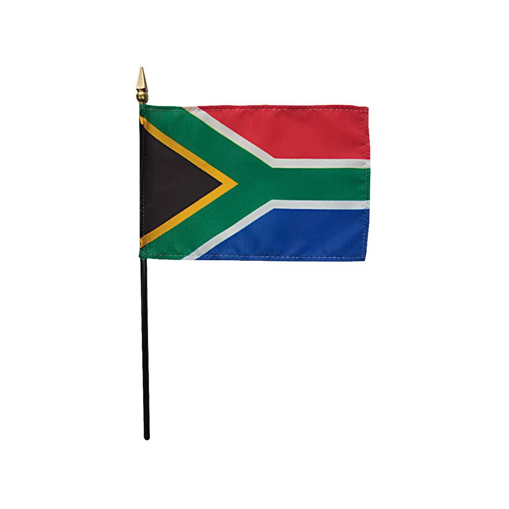 South Africa Stick Flag 4x6 in