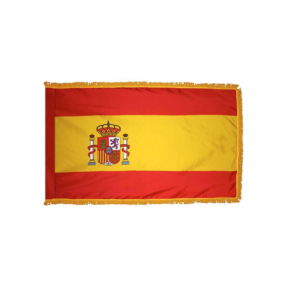 Spain Flag with Polesleeve & Fringe