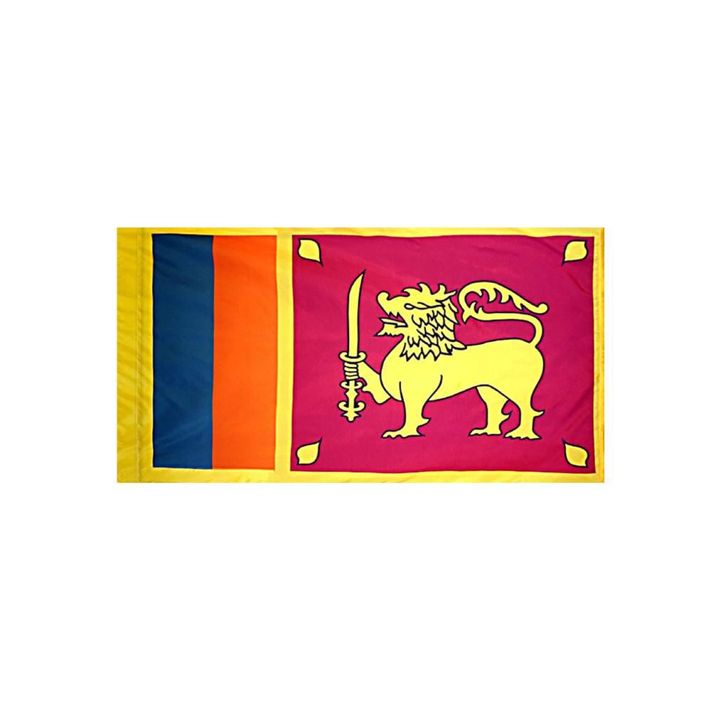 Sri Lanka Flag with Polesleeve