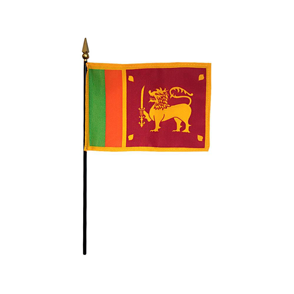 Sri Lanka Stick Flag 4x6 in