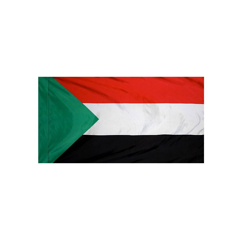 Sudan Flag with Polesleeve