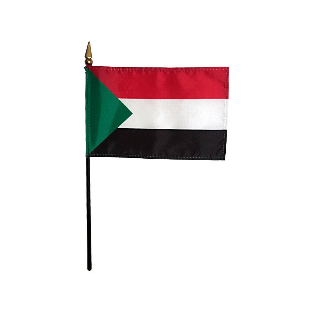 Sudan Stick Flag 4x6 in