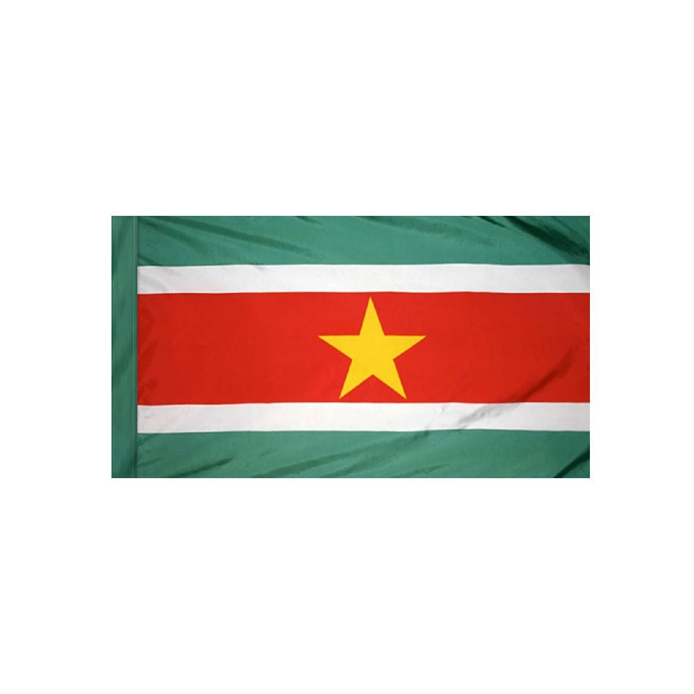 Suriname Flag with Polesleeve