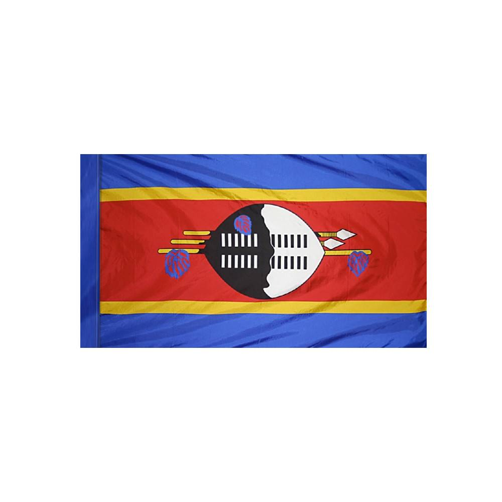 Swaziland Flag with Polesleeve