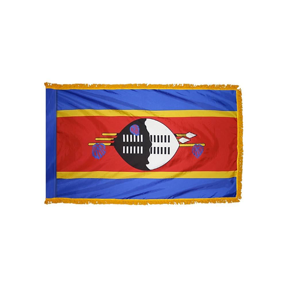 Swaziland Flag with Polesleeve & Fringe
