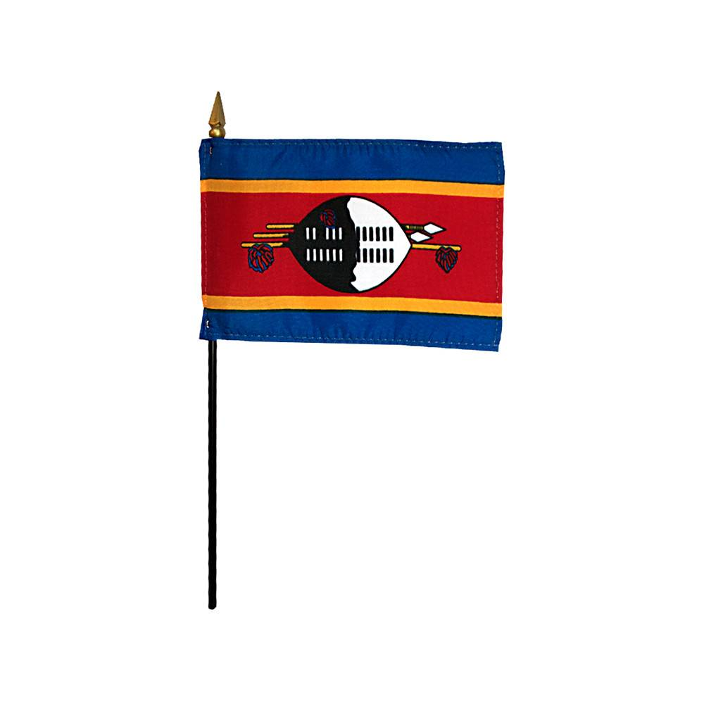Swaziland Stick Flag 4x6 in