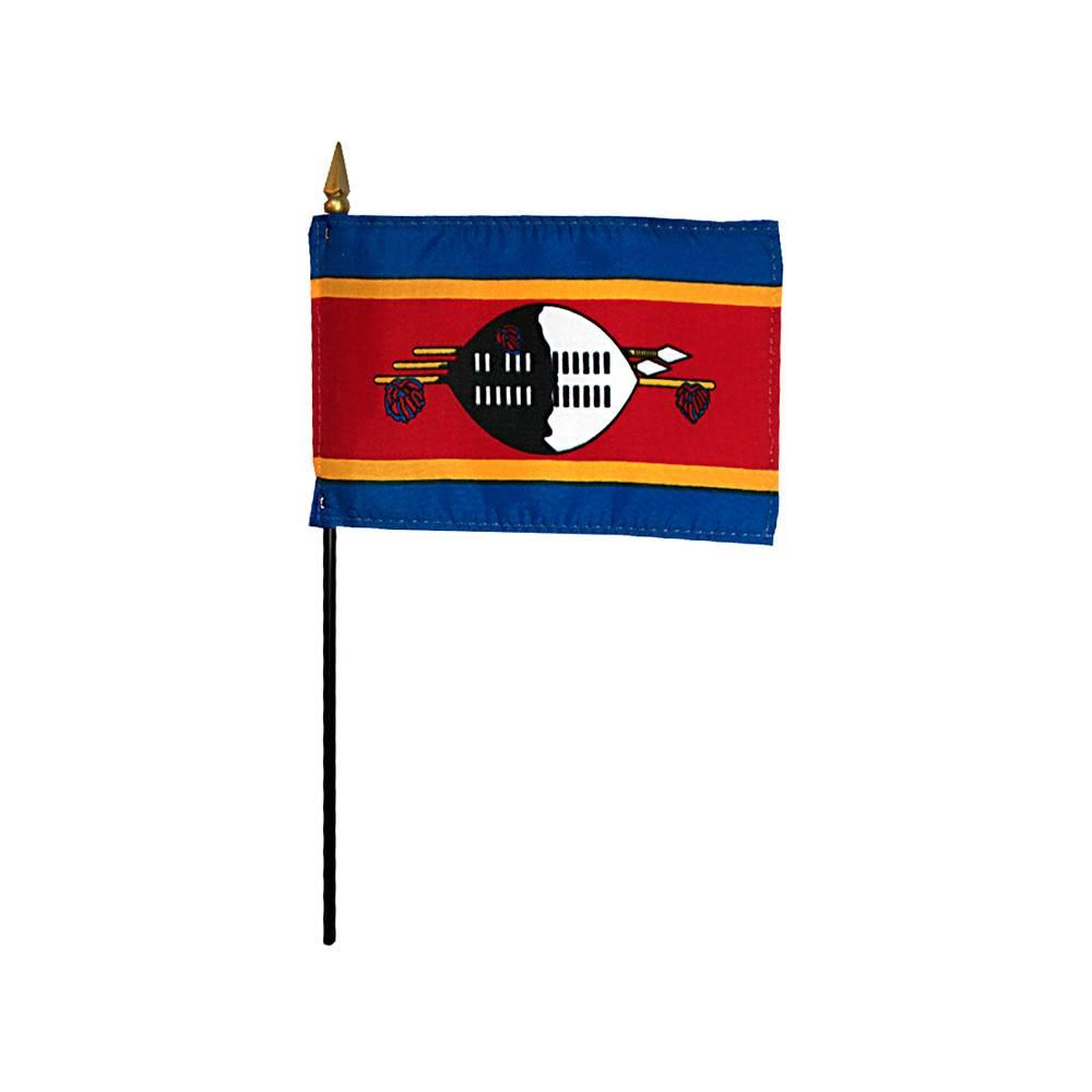 Swaziland Stick Flag 4x6 in