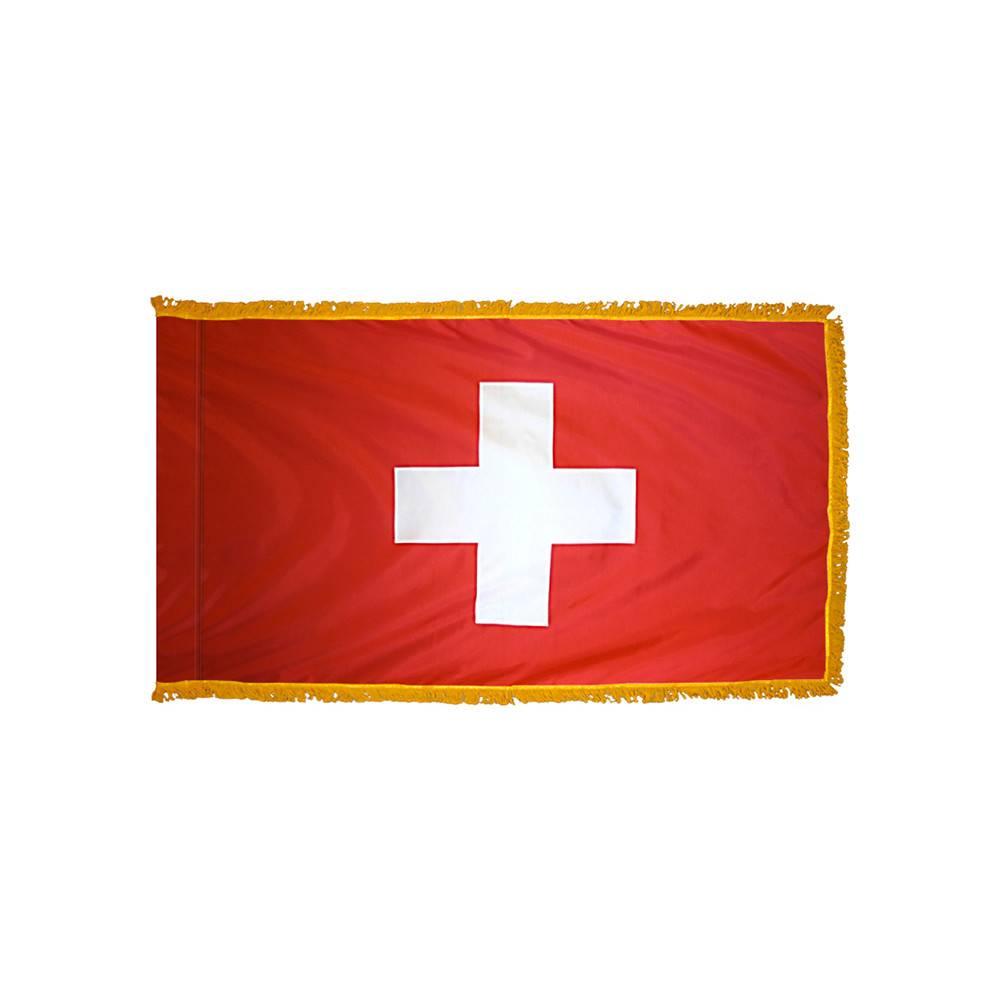 Switzerland Flag with Polesleeve & Fringe