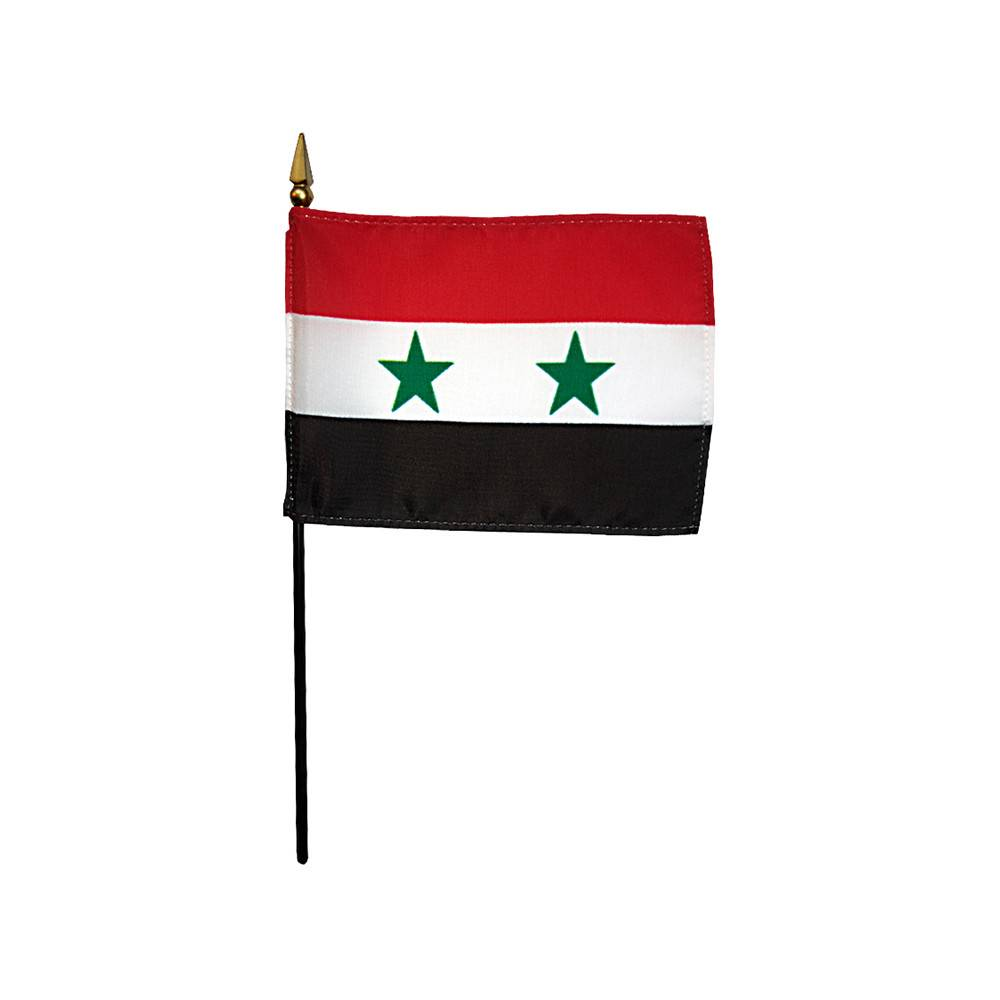 Syria Stick Flag 4x6 in