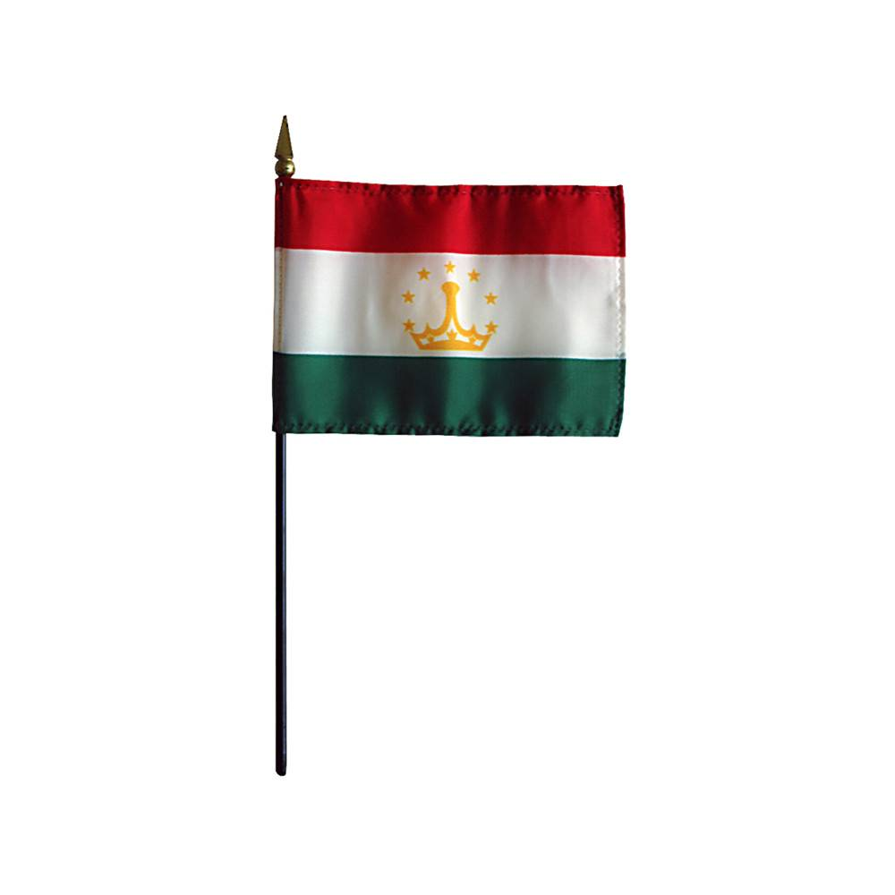 Tajikistan Stick Flag 4x6 in