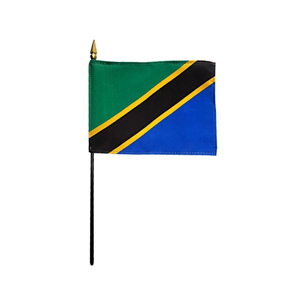 Tanzania Stick Flag 4x6 in