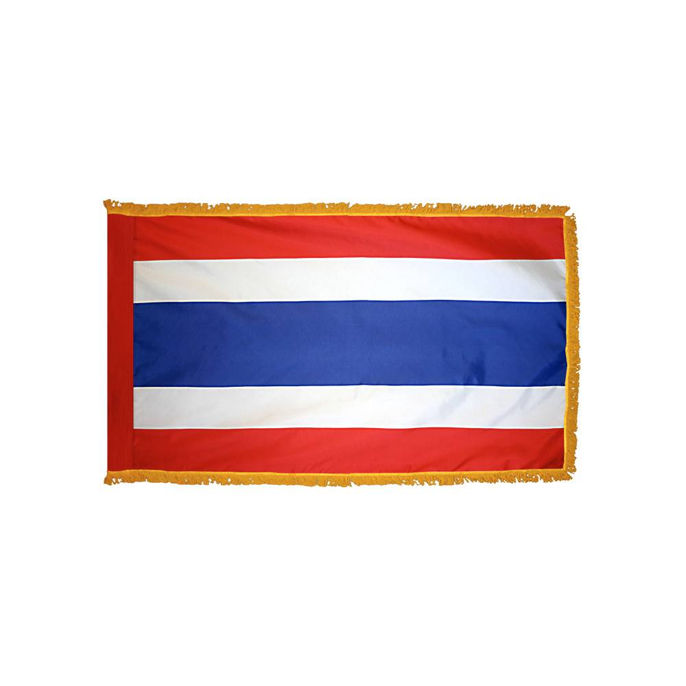 Thailand Flag with Polesleeve & Fringe