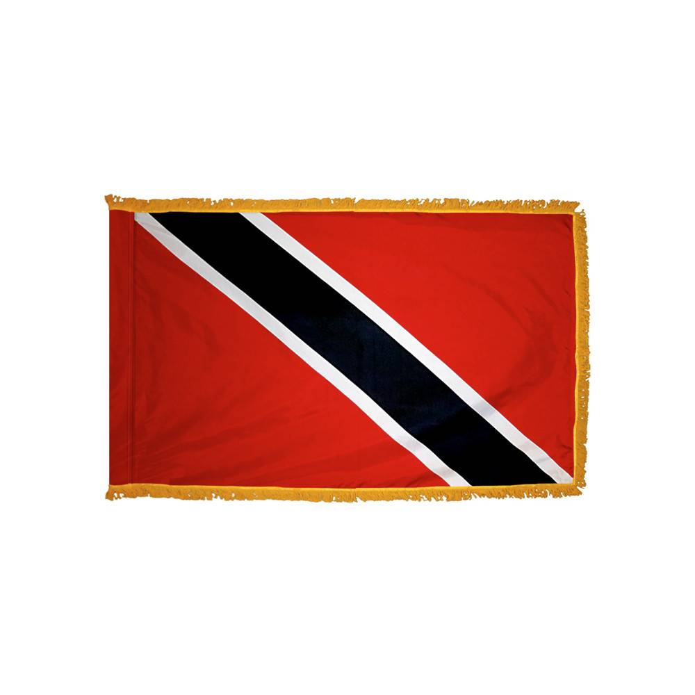 Trinidad & Tobago Flag with Polesleeve & Fringe