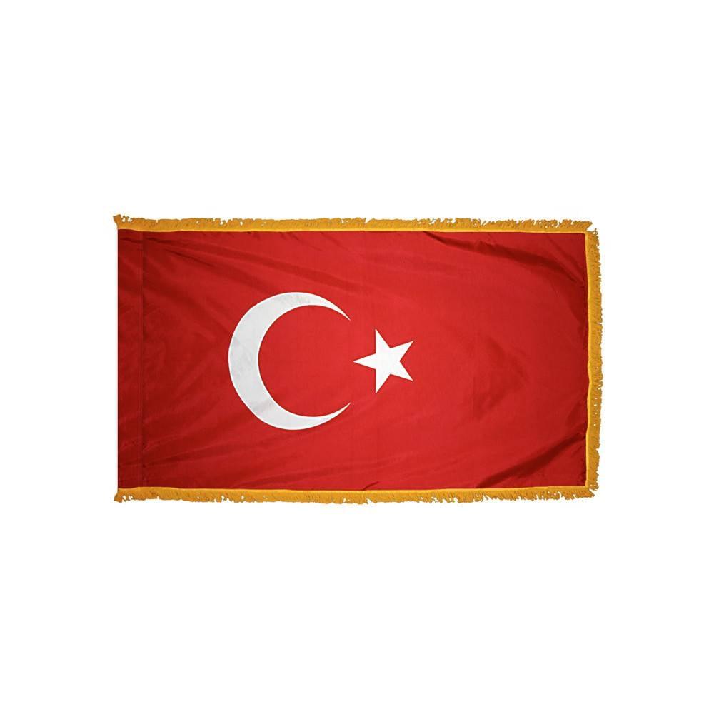 Turkey Flag with Polesleeve & Fringe
