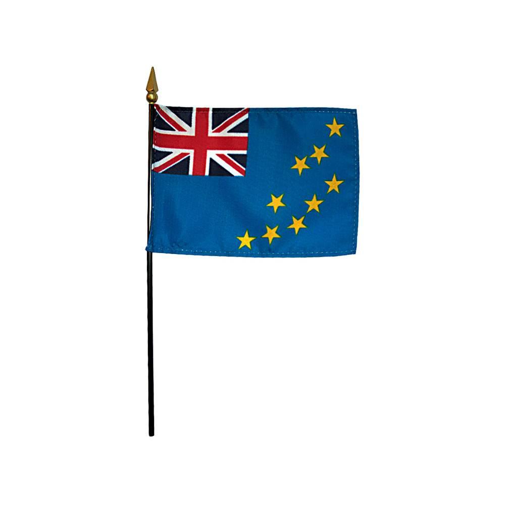 Tuvalu Stick Flag 4x6 in