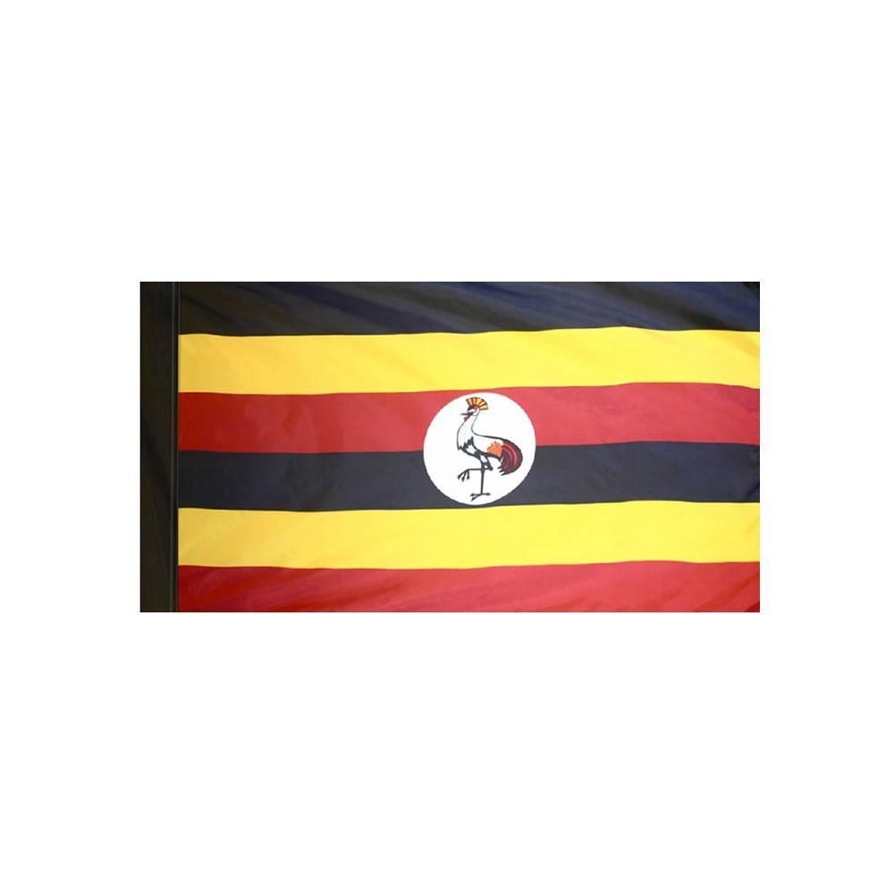Uganda Flag with Polesleeve