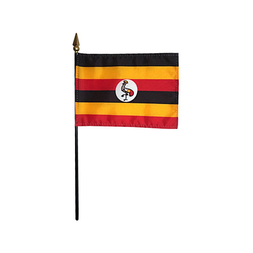 Uganda Stick Flag 4x6 in