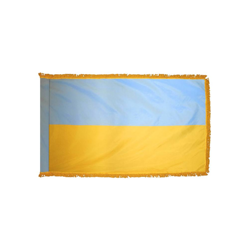 Ukraine Flag with Polesleeve & Fringe
