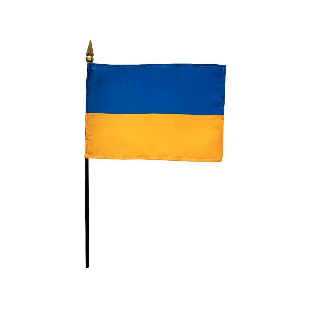Ukraine Stick Flag 4x6 in