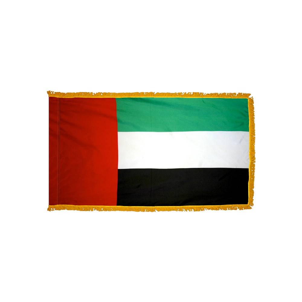 United Arab Emirates Flag with Polesleeve & Fringe
