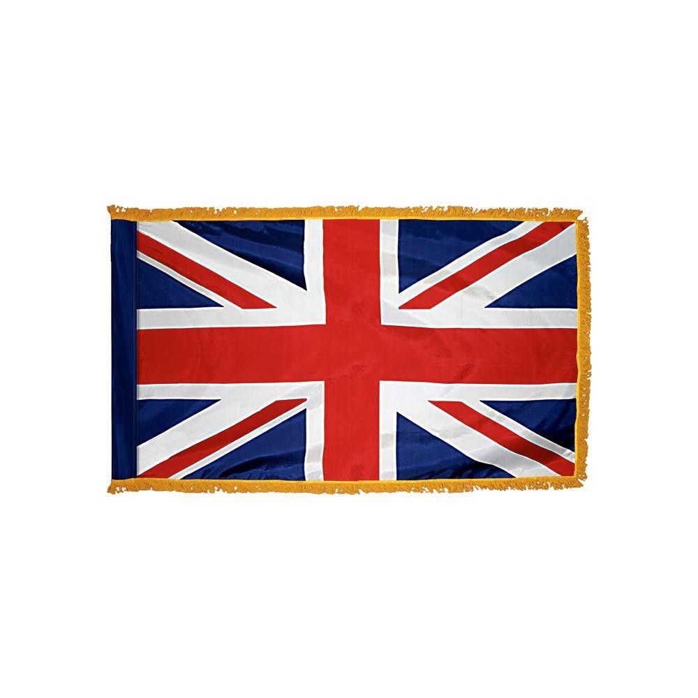 United Kingdom Flag with Polesleeve & Fringe