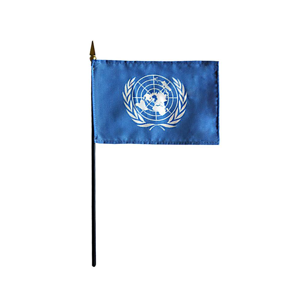United Nations Stick Flag 4x6 in