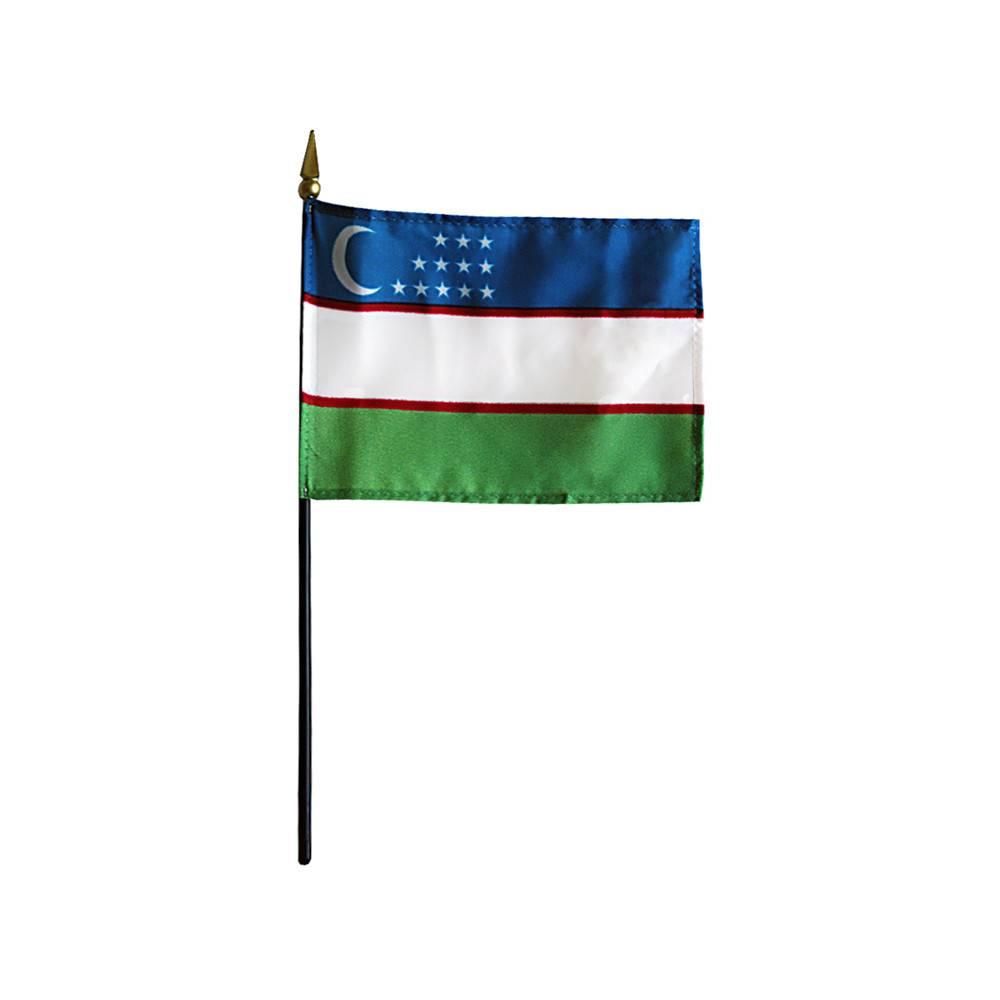 Uzbekistan Stick Flag
