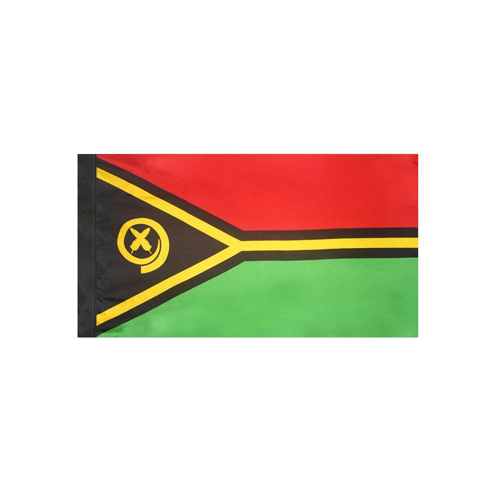 Vanuatu Flag with Polesleeve