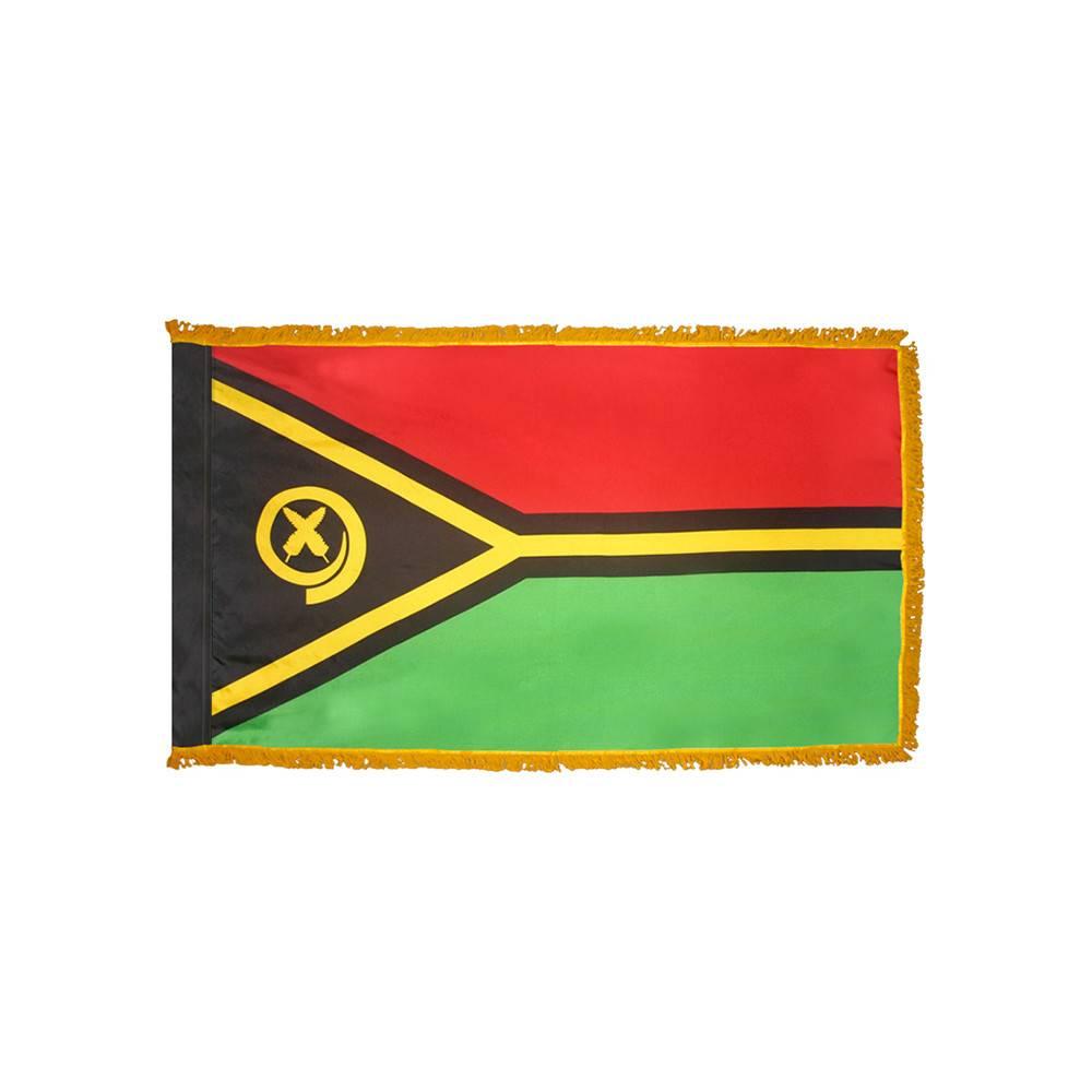 Vanuatu Flag with Polesleeve & Fringe