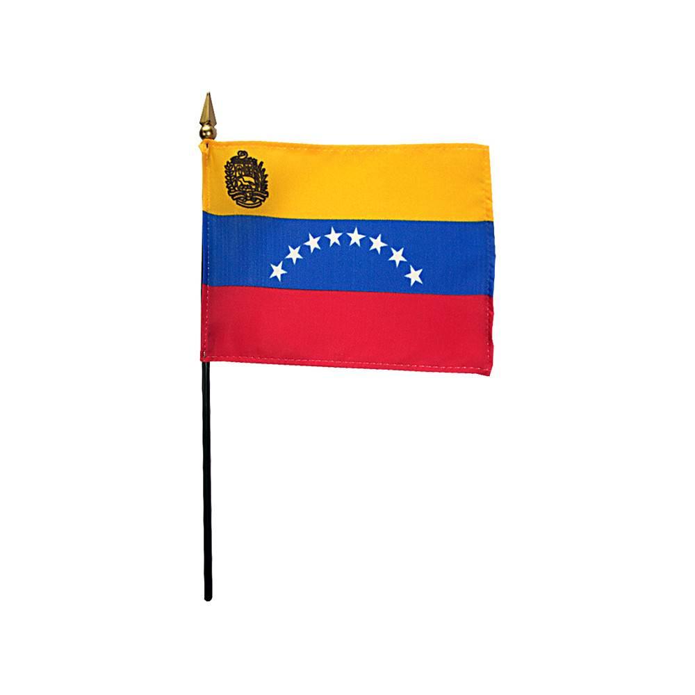 Venezuela Stick Flag 4x6 in