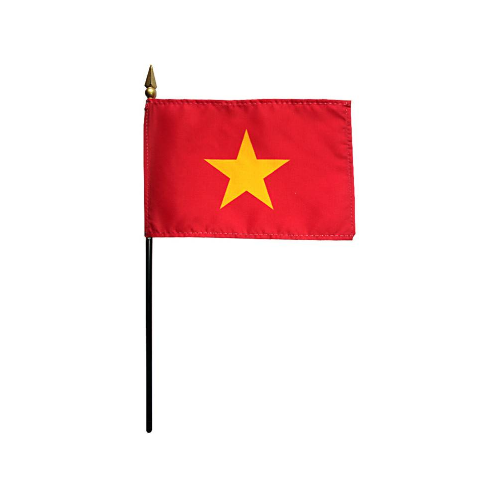 Vietnam Stick Flag 4x6 in
