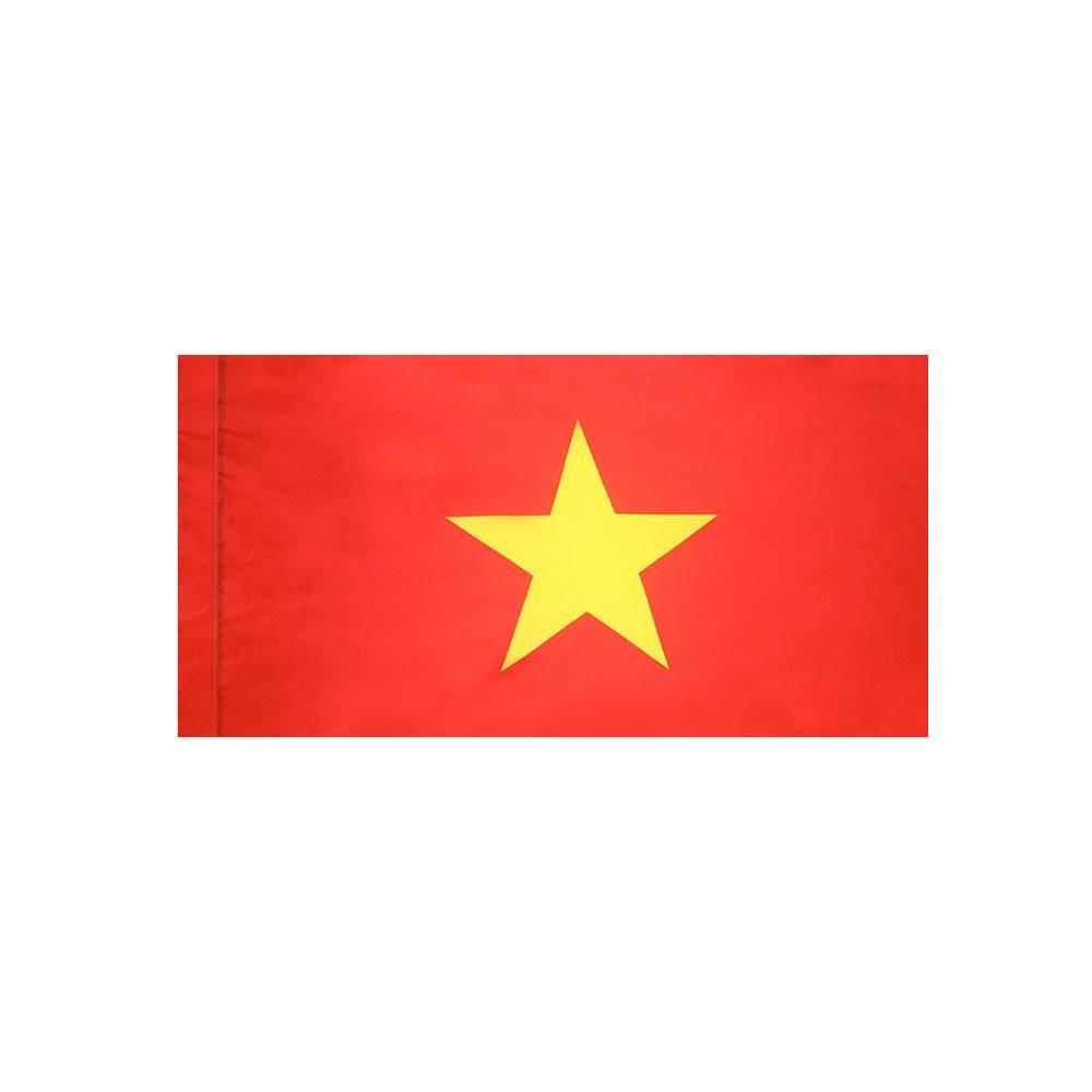 Vietnam Flag with Polesleeve