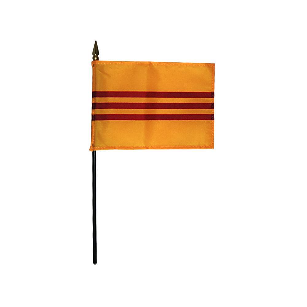 South Vietnam Stick Flag 4x6 in